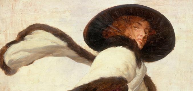 """Anonyme. """"Femme au chapeau noir et à l'écharpe"""" © Musée Carnavalet / Roger-Viollet"""